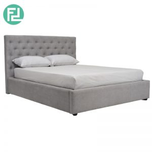 DUSTIN queen size fabric bed frame- 2 colors