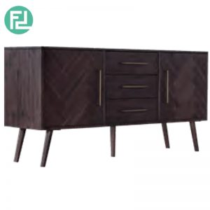 SELSEY 1.65M Solid Acacia Wood sideboard