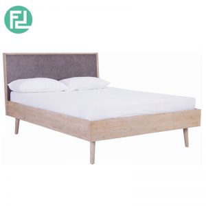 COSLO solid acacia wood king size bedframe