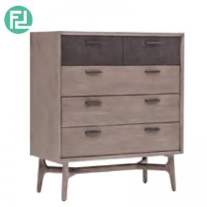 COSLO solid acacia wood 2+3 chest of drawers