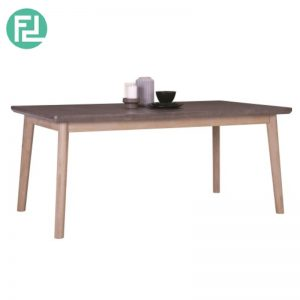 COSLO 180x100cm solid acacia wood dining table