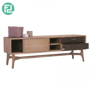 COSLO 2 meter solid acacia wood TV cabinet
