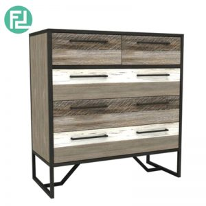HACHI solid acacia wood 2+3 drawer chest