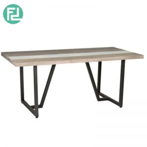 HACHI 180x90cm solid acacia wood dining table