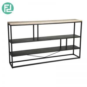 HACHI solid acacia wood low bookcase