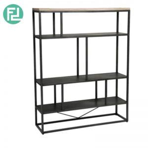 HACHI solid acacia wood high bookcase