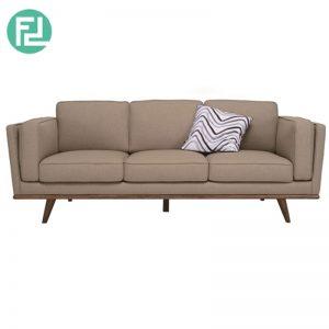 CIVIC 3 seater fabric sofa- brown