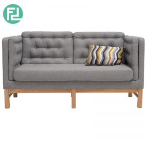 WIGO 2 seater fabric sofa-grey