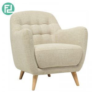 COOPER 1 seater fabric sofa-Almond