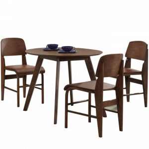TONGA 4 seater solid wood round dining set