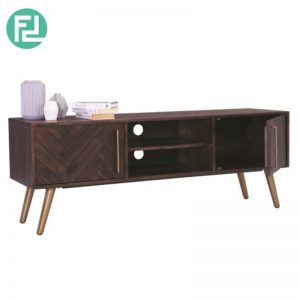 SELSEY Solid Acacia Wood 1.6m TV Cabinet (Imported from Vietnam)