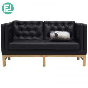 WIGO 2 seater PU sofa- Black