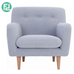 SPORTAGE 1 seater fabric sofa-light grey