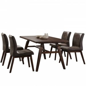HONOR solid wood 4 seater dining set-walnut