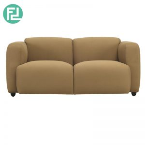 POLO 2 seater contemporary sofa-brown