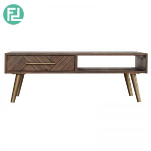 SELSEY solid Acacia Wood 4ft Coffee table with drawer(Imported from Vietnam)