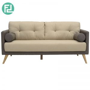 LANCER 2 seater fabric sofa-Brown