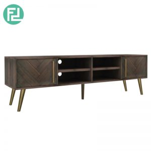 SELSEY Solid Acacia Wood 2meter TV Cabinet (Imported from Vietnam)
