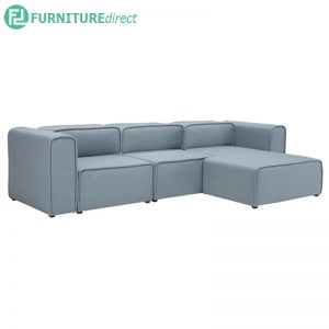 ACURA 3 seater L shaped fabric modular sofa