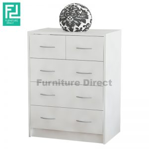 LIBERTY 2 over 3 chest of drawers-white