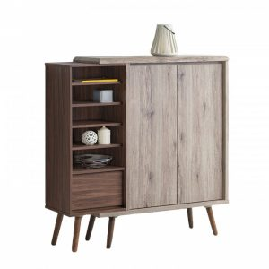 ODORA 2 door sideboard- oak/brown