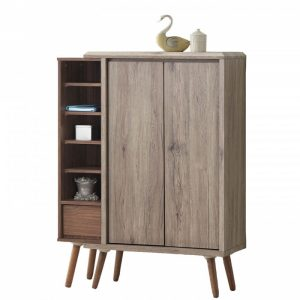 ODORA 2 door shoe cabinet-oak/brown