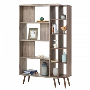 ODORA book shelf divider- oak/brown
