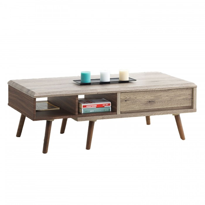 ODORA Ft Rectangular Coffee Table Oakbrown FurnitureDirectcommy - 4ft coffee table