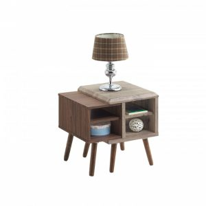 ODORA side table-oak/brown