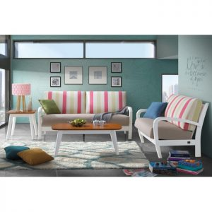 ANNA solid wood sofa set with coffee table-rainbow