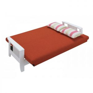 RACHEL solid wood sofa bed-Red