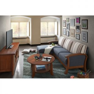 JOSE solid wood L shaped sofa-Grey