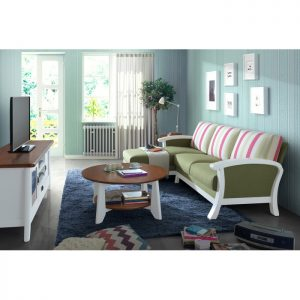 JOSE solid wood L shaped sofa-Green