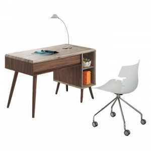 ODORA 4ft study desk-walnut