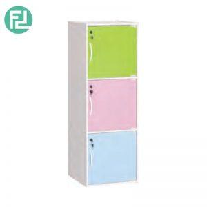 CODEY kids 3 door storage cabinet with lock