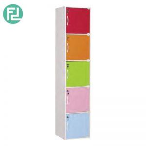 CODEY kids 5 door storage cabinet with lock