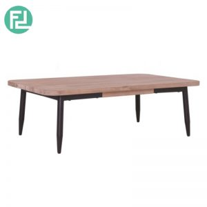 BINDER 4ft solid acacia coffee table-taupe
