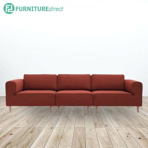DERBY 3 seater fabric sofa- orange red
