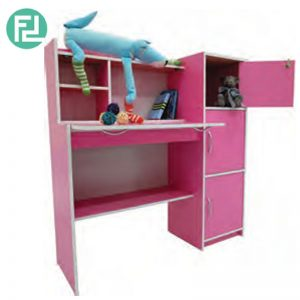 FAYNE kids study desk with bookcase-Pink