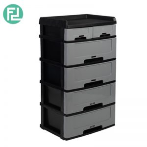 Clearance- FDR484 6 tier plastic drawer-black (1 unit only)