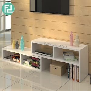 [CLEARANCE] FLEXIA extendable TV cabinet-white