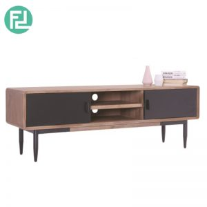 BINDER 2 meter solid acacia wood TV cabinet-taupe