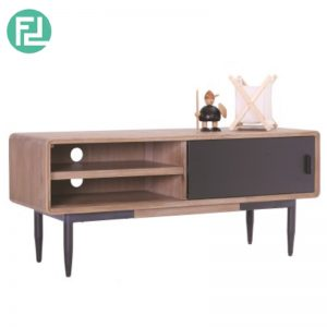 BINDER 4 feet solid acacia wood TV Cabinet -Taupe