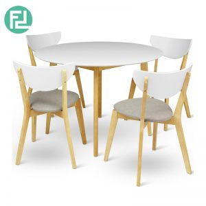 MONTANA 4 seater round dining set-grey seat