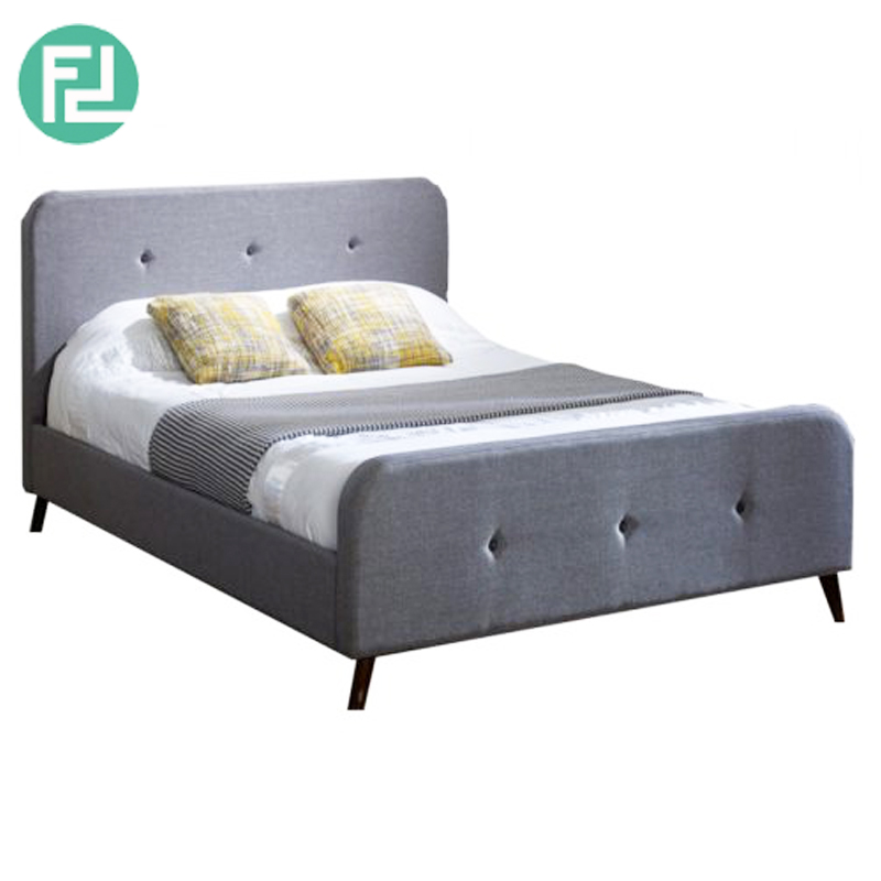 STOCKHOLM queen size fabric bed frame-grey - FurnitureDirect.com.my