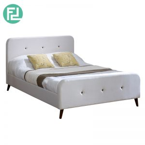 STOCKHOLM queen size fabric bed frame-white