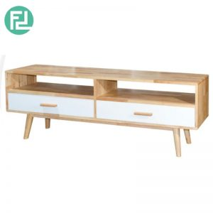 NOSTON - 6' TV Cabinet with 2 DRAWER - NATURAL WHITE
