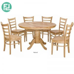 SALME Dining Table (1+6) Solid Wood
