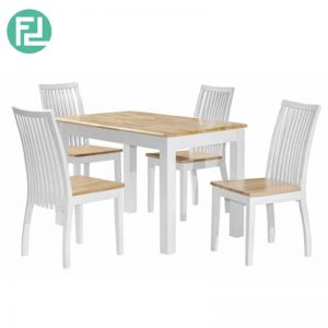 AVANUE 2.5′ x 4′ Dining Set (1+4)- NATURAL WHITE