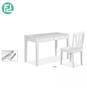 Solid Wood - EBON Writing Table (4ft) + Shaker Chair